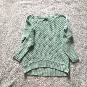 American eagle mint green sweater